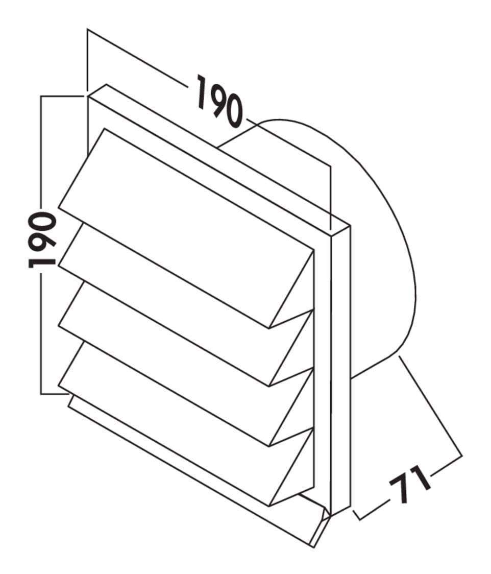 K-Jal Buitenrooster lichtgrijs, COMPAIR® Flow 150