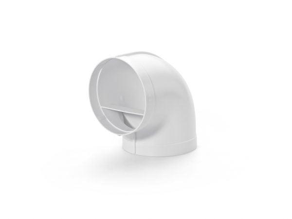 R-RBV Buisbocht 90° koppelstuk wit, COMPAIR® Flow 150