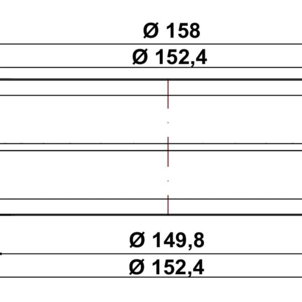 R-VBS 150 Ronde buisverbinding, Verbindingselement., wit