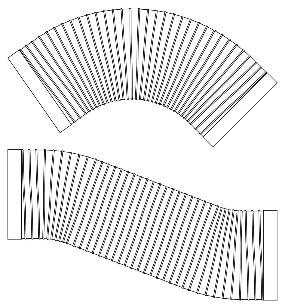 SF-VRO Flex buis plat 500mm COMPAIR® Steel Flow 150