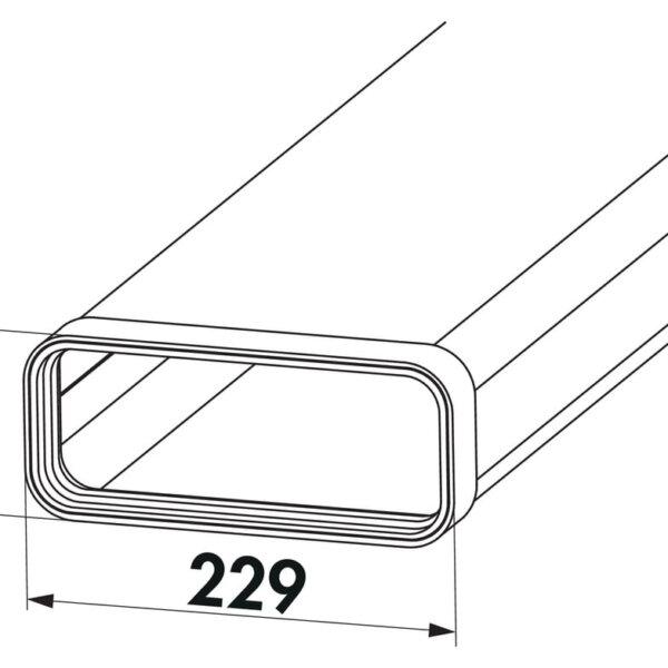 Compair Steel Flow 150 SF-VRO 150 buis plat 1000mm