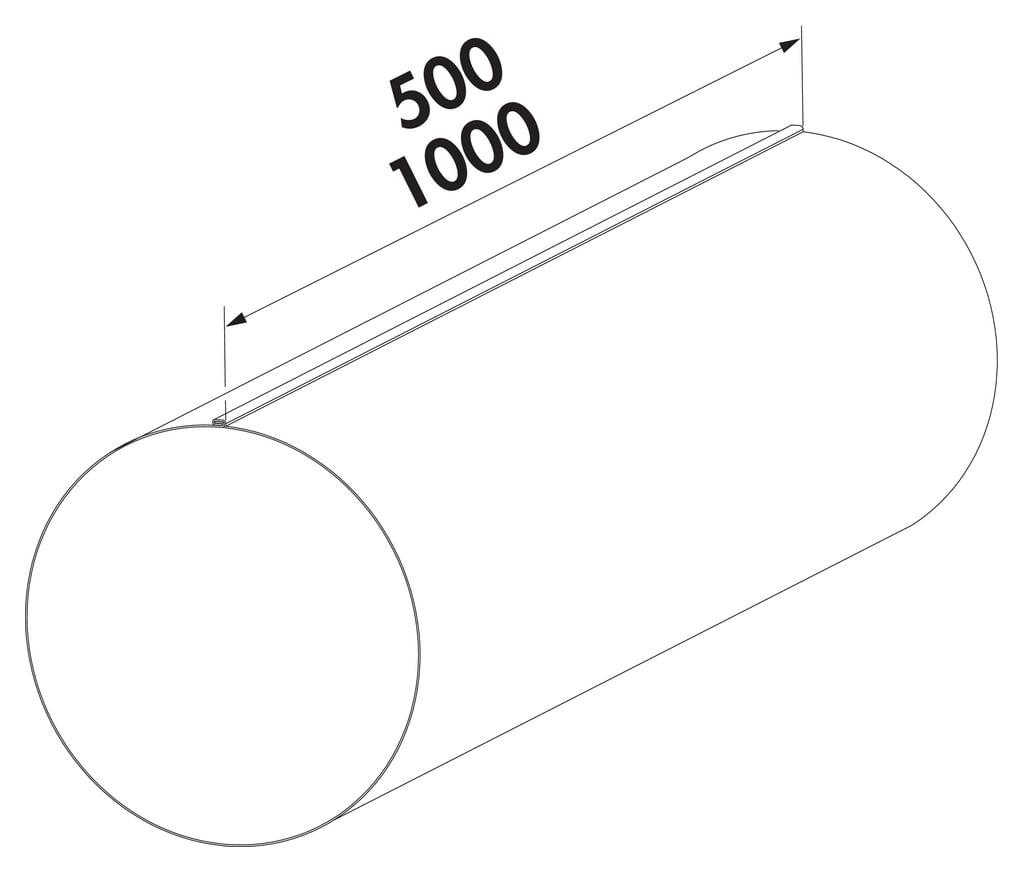 Compair Steel Flow 150 SR-R ronde buis 1000mm