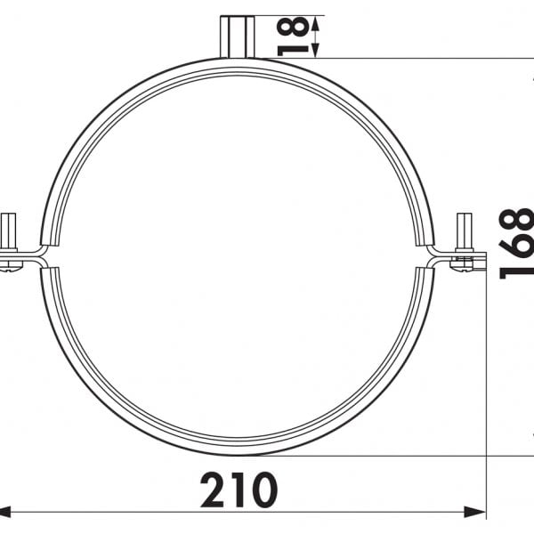 Compair Steel Flow SR 150 buishouder montage beugel rond