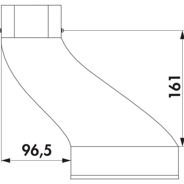 Compair Steel Flow 150 SF-VEST verloop rond plat-1