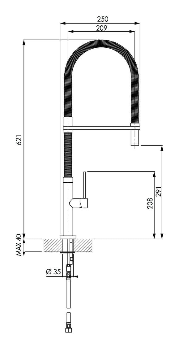 Bello 5, E始greepsmengkraan., roestvrij staalfinish, hoogdruk