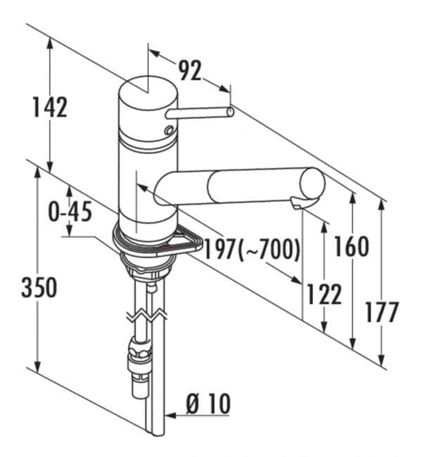 Scope 4, E始greepsmengkraan., roestvrij staalfinish, hoogdruk
