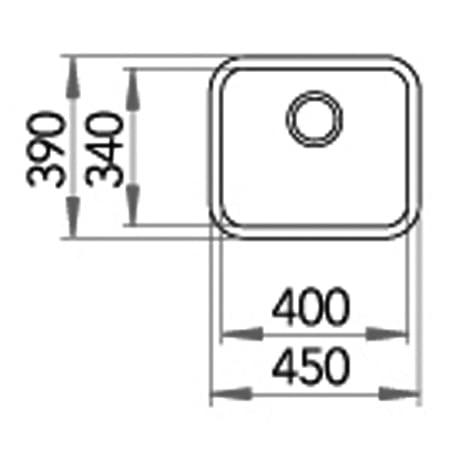 STALA spoelbak, vierkant, inbouw