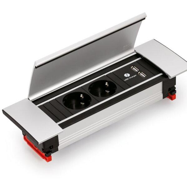 Power Frame Cover-USB, met veiligheidsstopcontacten