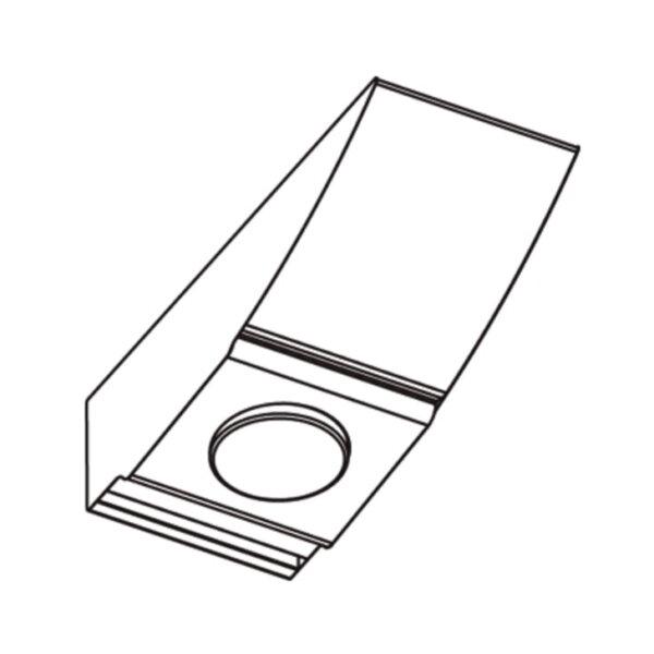 Carino schakelaar, Onderbouw-/nislamp., antraciet, voor lichtveld onder