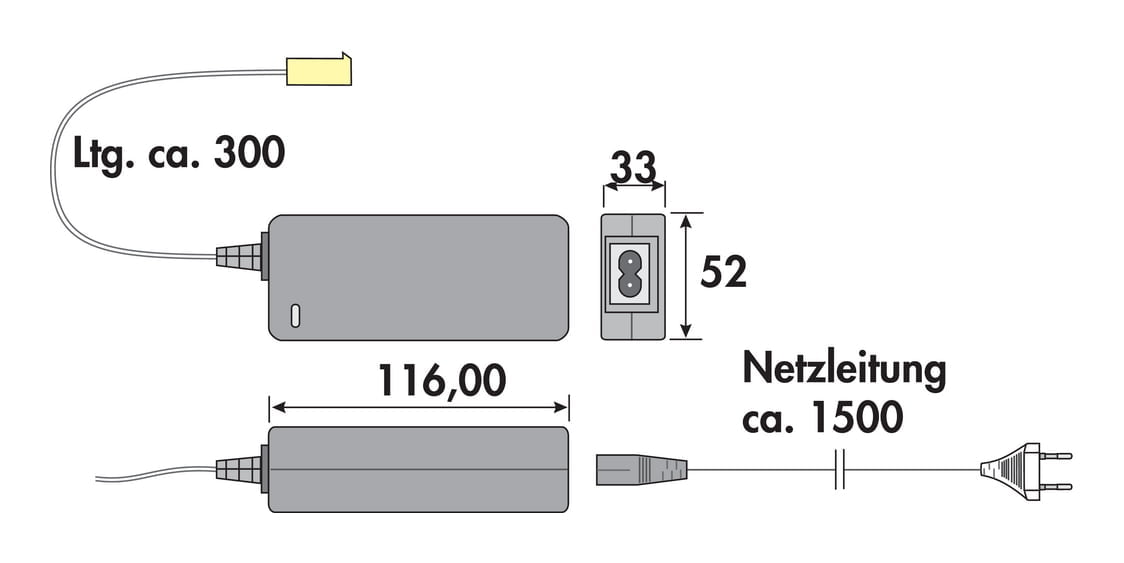 LED Converter voor Fascia LED Flex Stripes RGB., zwart