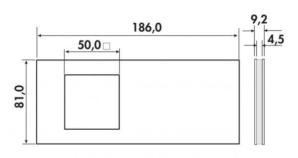 Jarl 1 LED, Onderbouw-/nislamp., Afzonderlijke lamp zonder schakelaar