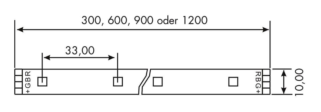 Fascia LED Flex Stripes RGB, LED Stripe., L 300 mm