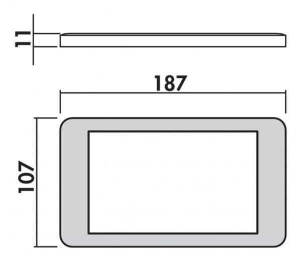 Hull kleurwissel LED, Onderbouw-/nislamp., set-3