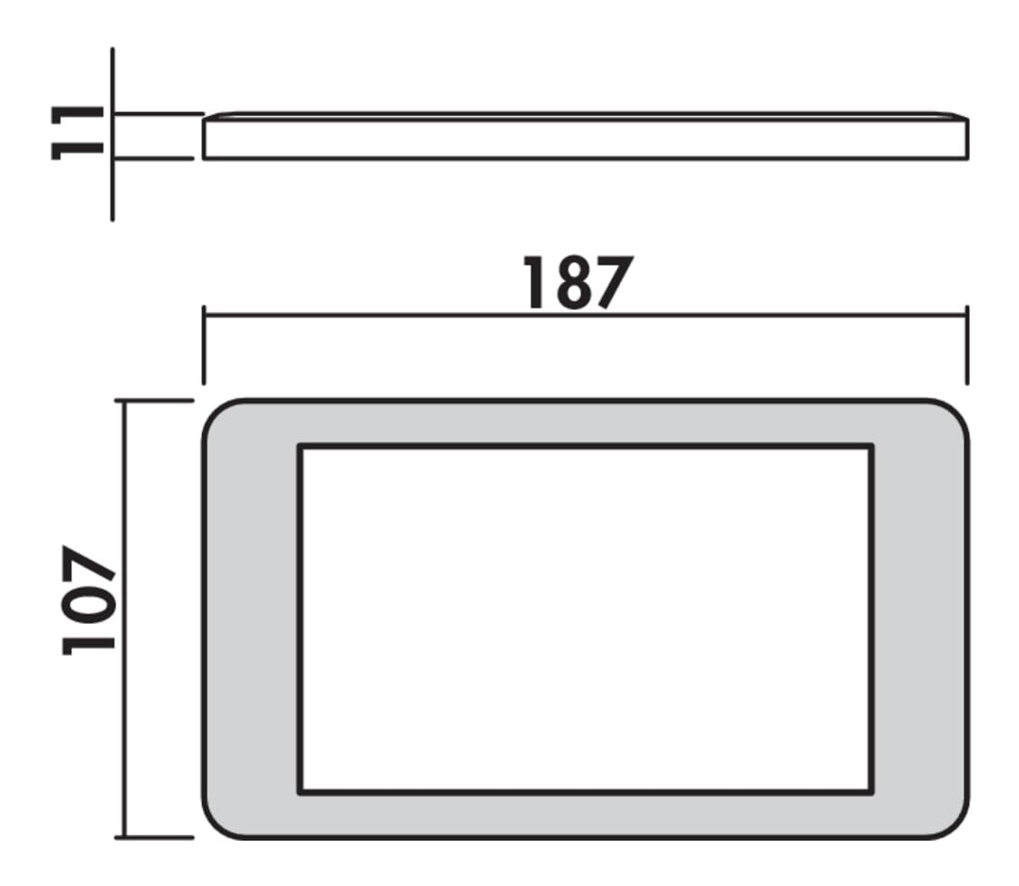 Hull kleurwissel LED, Onderbouw-/nislamp., set-5