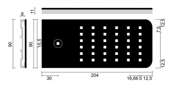 Flipィ kleurwissel LED, Onderbouw-/nislamp., afzonderlijke lamp zonder schakelaar