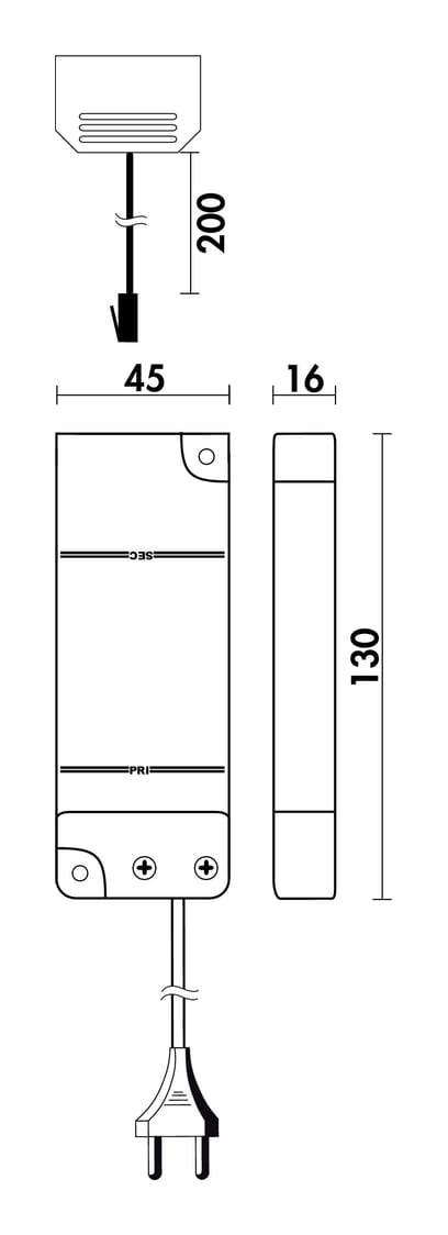 LED Converter 24 E., wit