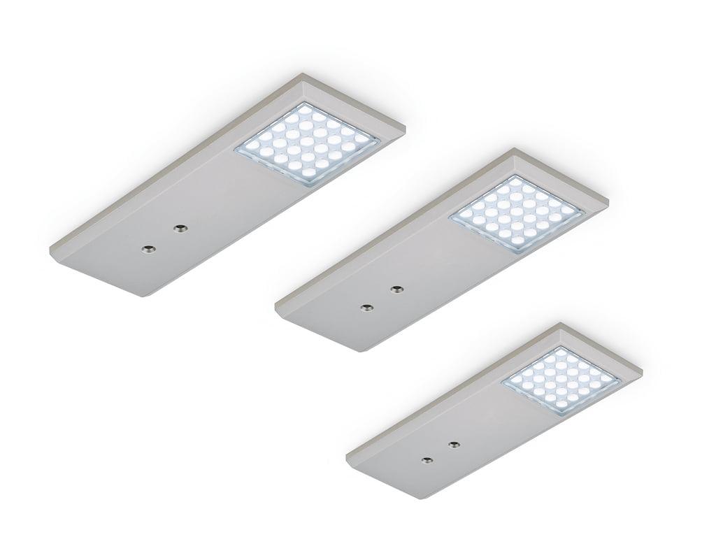 Intorno L kleurwissel LED, Onderbouw-/nislamp, set-3