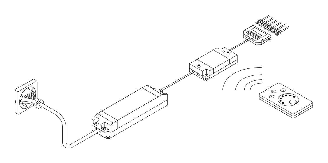 LED afstandsbediening., wit