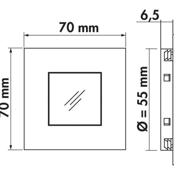 Cosi kleurwissel LED, Inbouwspot., afzonderlijke lamp zonder schakelaar