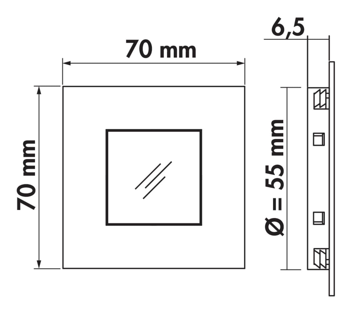 Cosi kleurwissel LED, Inbouwspot., set-3