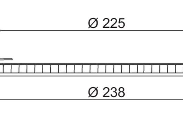 Plana XL LED, Inbouwspot., wit