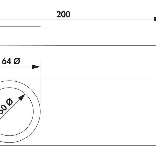 Rea 1 LED, Onderbouw-/nislamp., Afzonderlijke lamp zonder schakelaar, 4000 K neutraal wit
