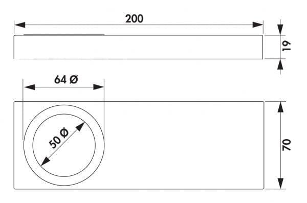 Rea 1 LED, Onderbouw-/nislamp., Set-2, 4000 K neutralweiァ