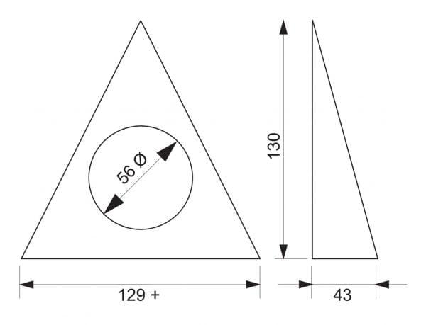 Razzo 1 LED, Onderbouw-/nislamp., Set-2