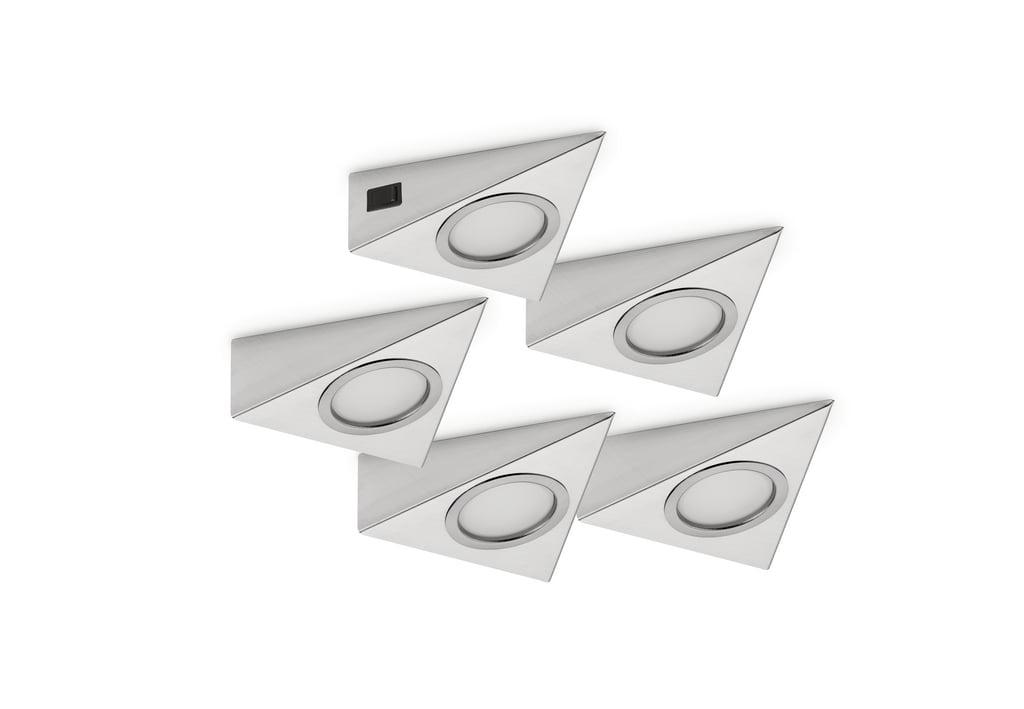 Razzo 1 LED, Onderbouw-/nislamp, Set-5
