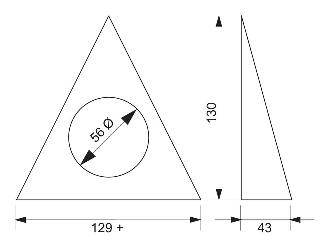 Razzo 1 LED, Onderbouw-/nislamp., Set-5