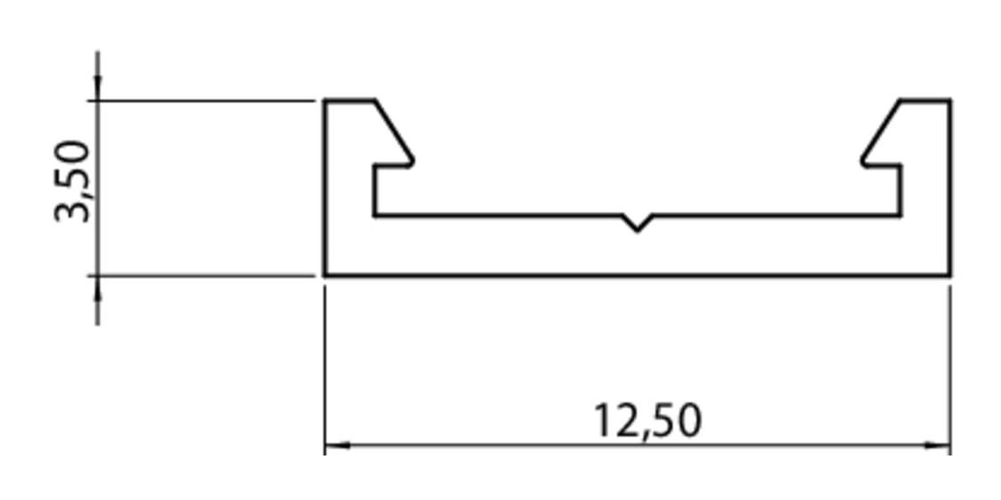 Opnamekanaal voor Fakto LED Flex Stripes., L 1000 mm