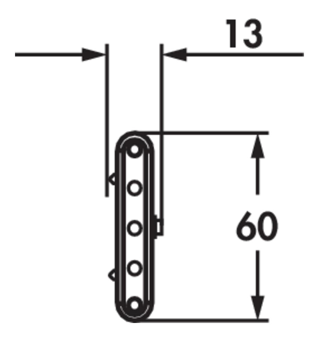 Melon LED, Onderbouw-/nislamp., 2 LED spots, L 350 mm, 3,0 W