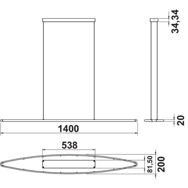 Cielo LED., L 1400 mm, 41 W