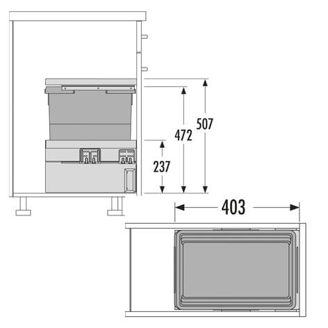 Afvalsysteem HAILO CARGO Synchro nr. 3608311