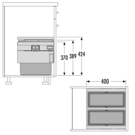 Afvalsysteem HAILO CARGO Synchro nr. 3608471