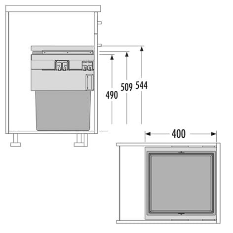Hailo afvalsysteem keuken