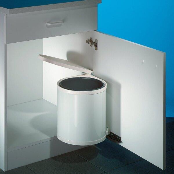 Hailo Rondo 1, afvalsysteem voor deuren, wit