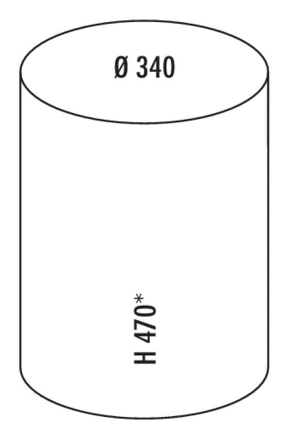 Rondo 2, Afvalverzamelsysteem voor Zwenktechniek., roestvrij staal