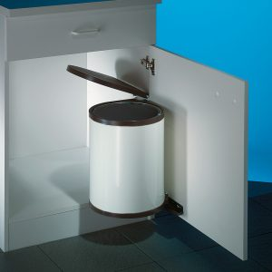 Hailo Rondo 2, afvalsysteem voor deuren, wit