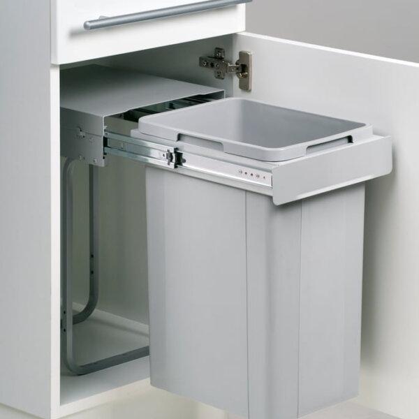 Wesco Bio Single 30 DT, Afvalsysteem voor deuren, alu grijs, 26 l, H 470 mm