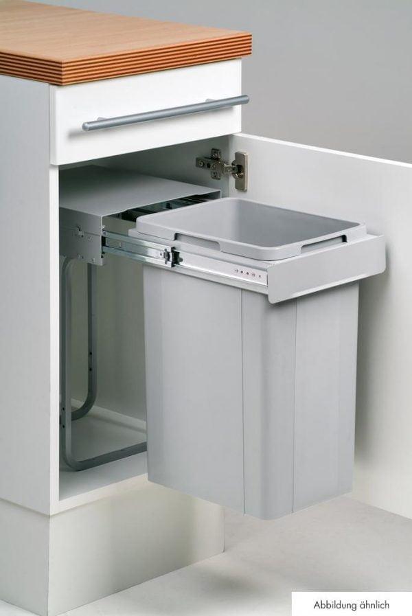 Wesco Bio Single 30 DT, Afvalsysteem voor deuren, alu grijs, 32 l, H 570 mm