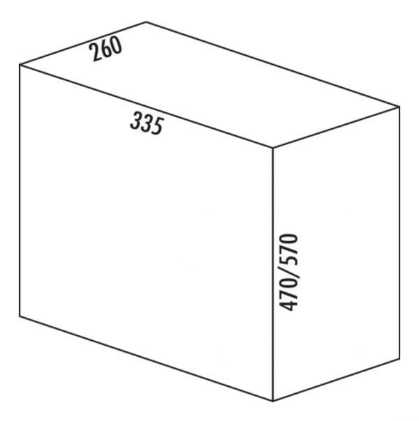 Bio Single 30 DT, Afvalverzamelsystemen voor draaideuren., alu grijs, 32 l, H 570 mm