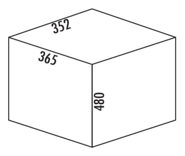 M???lex Single 35, Afvalverzamelsysteem voor Zwenktechniek., zwart