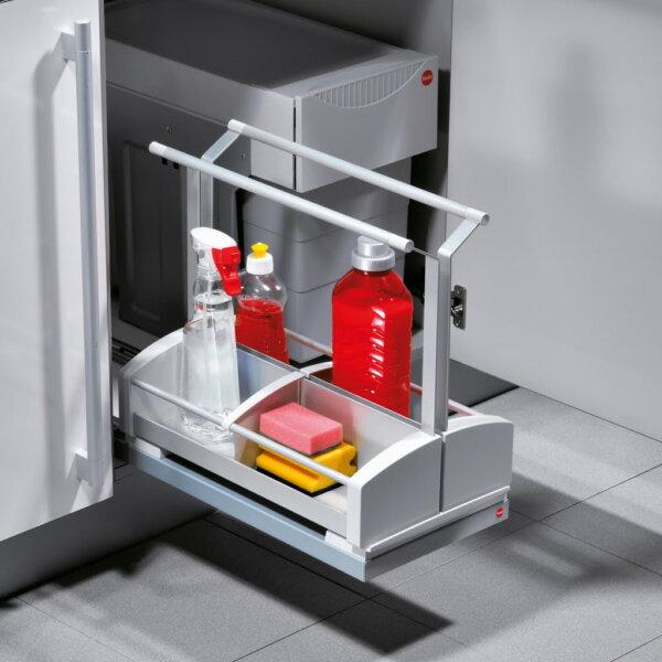 Poetsmiddeluittreksysteem Carry, Afvalsysteem voor deuren, lichtgrijs