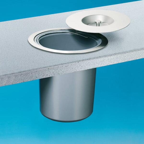 Wesco Dassa 4, Afvalsysteem in werkblad, roestvrij staal met kunststofelement