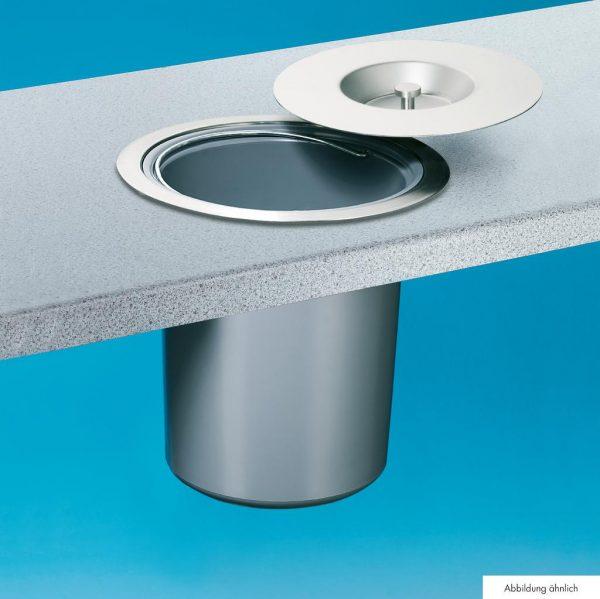 Wesco Dassa 4, Afvalemmer inbouw werkblad, roestvrij staal met aluminium element