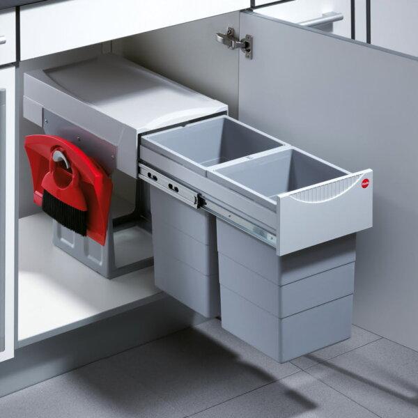Hailo Tandem 7 K, Afvalsysteem voor deuren, lichtgrijs