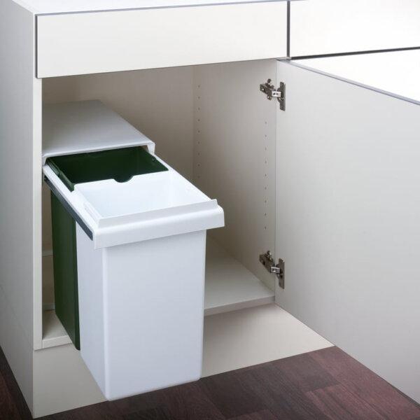 Wesco Double GW, Afvalsysteem voor deuren, wit/groen