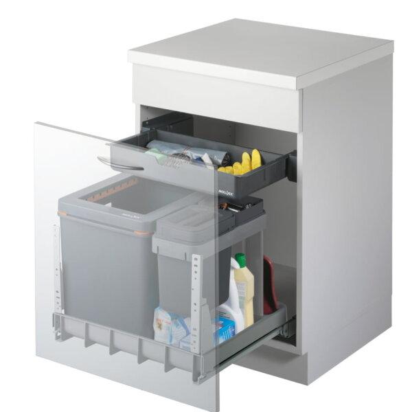 Mullex Boxx 55/60, afvalsysteem voor Frontuittreksysteem, antraciet