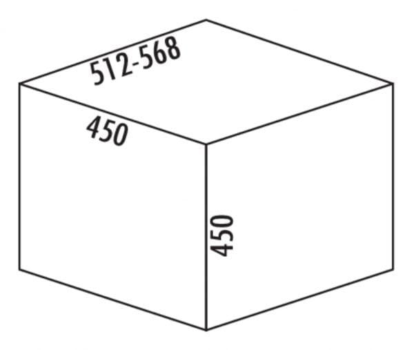 M???lex Boxx 55/60, Afvalverzamelsysteem voor Frontuittreksysteem., antraciet